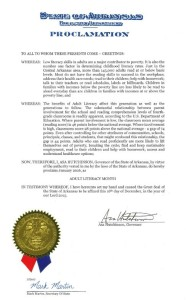Adult Literacy Month Proclamation